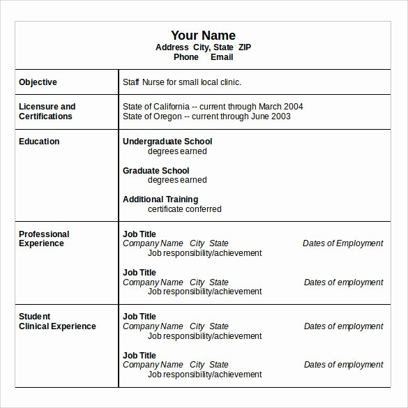 Nursing Student Resume Template Word Awesome Nurse Resume 10 Download Free Documents In Word Pdf