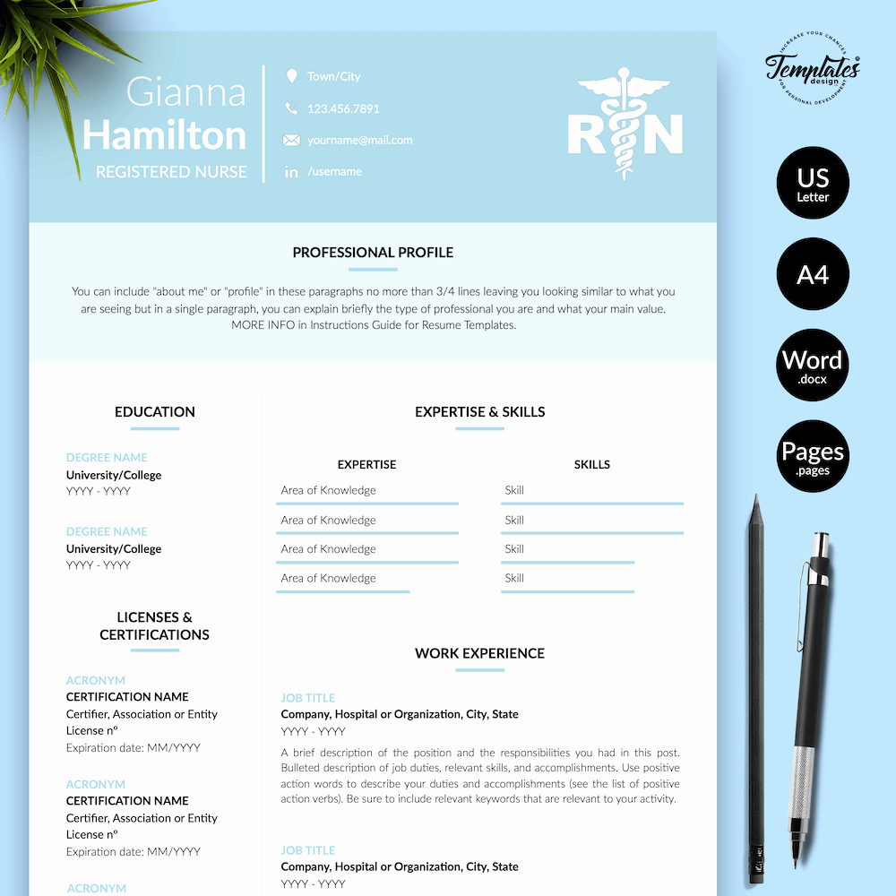 Nursing Student Resume Template Word Awesome Nursing Resume Templates for Word and Pages