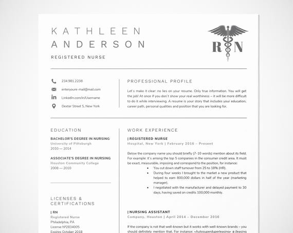 Nursing Student Resume Template Word Awesome Registered Nurse Resume Template for Word Nursing Resume
