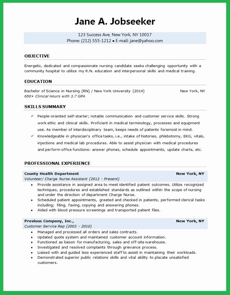 Nursing Student Resume Template Word Beautiful Nursing Student Resume
