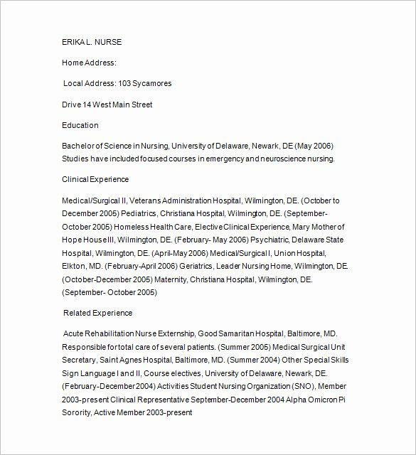 Nursing Student Resume Template Word Best Of 11 Tutor Resume Templates Doc Pdf