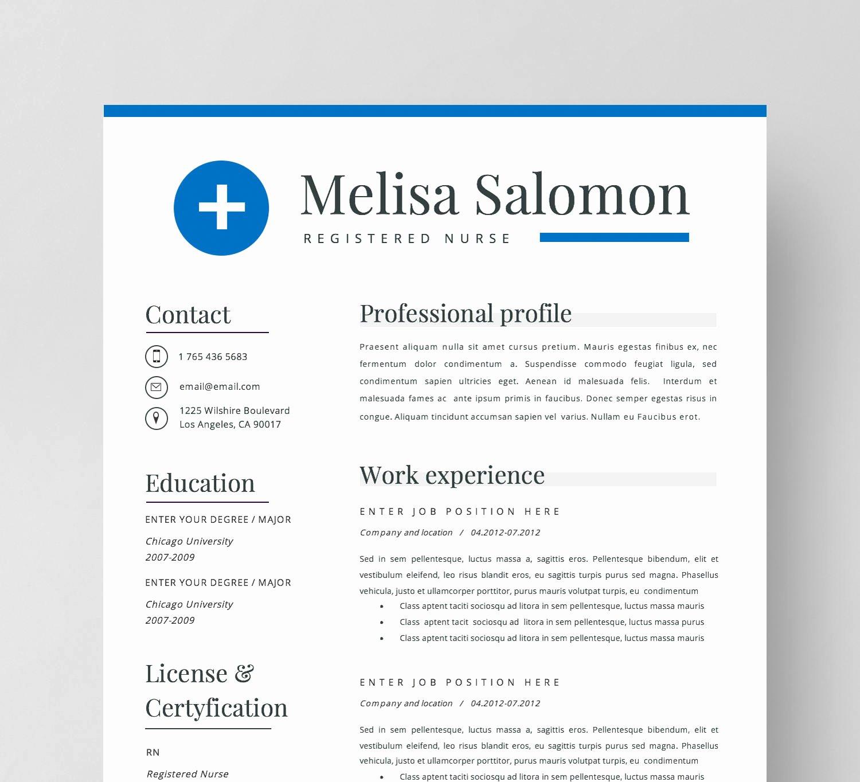 Nursing Student Resume Template Word Best Of Nurse Resume Template for Word Nursing Resume Medical