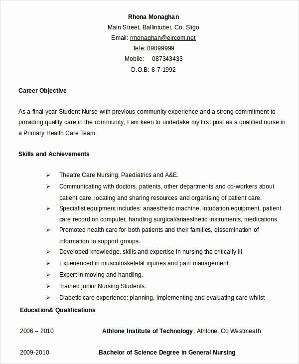 Nursing Student Resume Template Word Fresh Resume In Word Template 24 Free Word Pdf Documents
