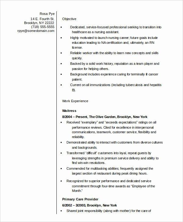 Nursing Student Resume Template Word Inspirational 10 Nurse Resume Templates Pdf Doc