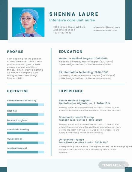 Nursing Student Resume Template Word Lovely Free Nursing Student Cv Template Download 200 Resume