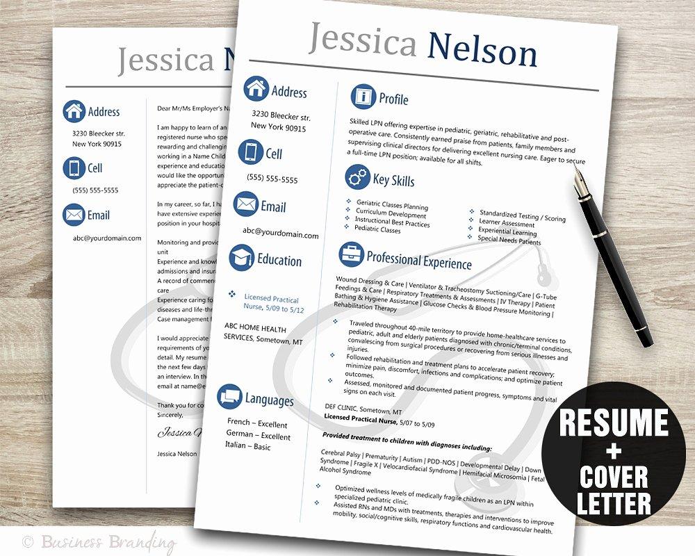 Nursing Student Resume Template Word Luxury Medical Resume Templateinstant Download Medical Resumeresume