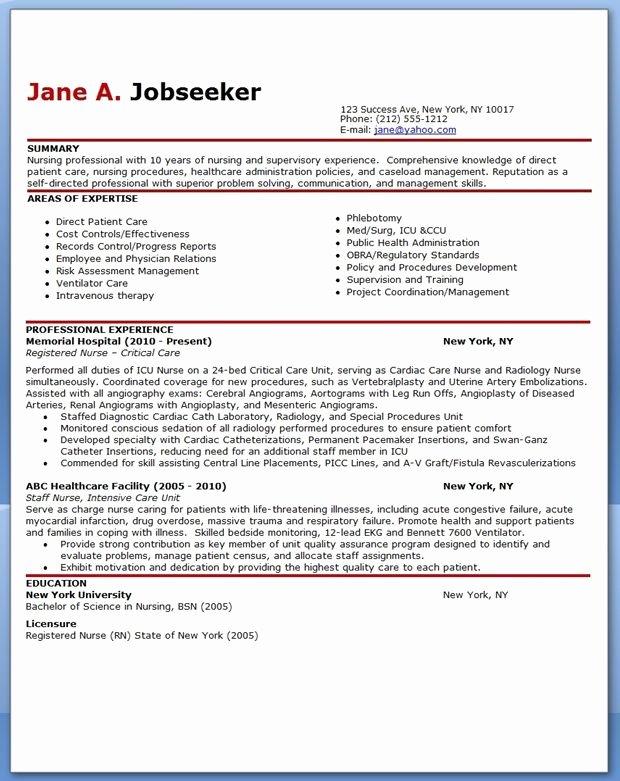 Nursing Student Resume Template Word New Experienced Nurse Resume Sample