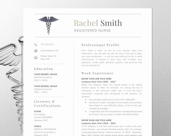 Nursing Student Resume Template Word Unique Nursing Resume Template for Word Nurse Cv Template Rn