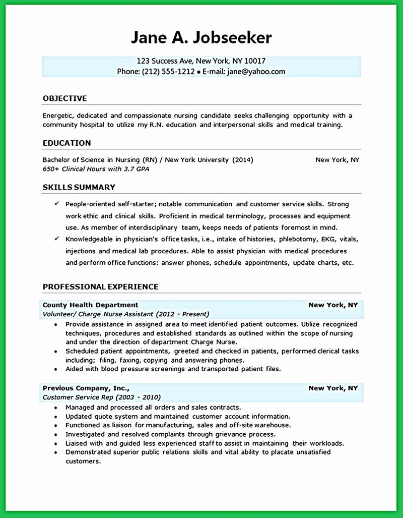 Nursing Student Resume Templates Fresh Nursing Student Resume Must Contains Relevant Skills
