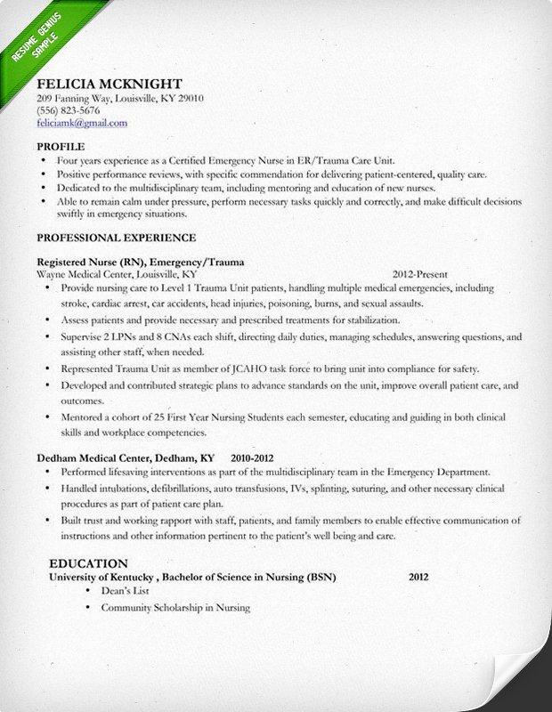 Nursing Student Resume Templates Inspirational Nursing Resume Sample & Writing Guide