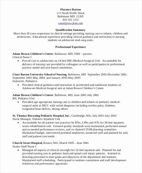 Nursing Student Resume Templates Inspirational Nursing Student Resume Clinical Experience