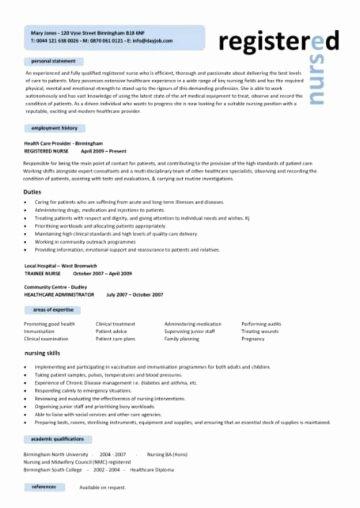 Nursing Student Resume Templates Luxury Nursing Cv Template Nurse Resume Examples Sample