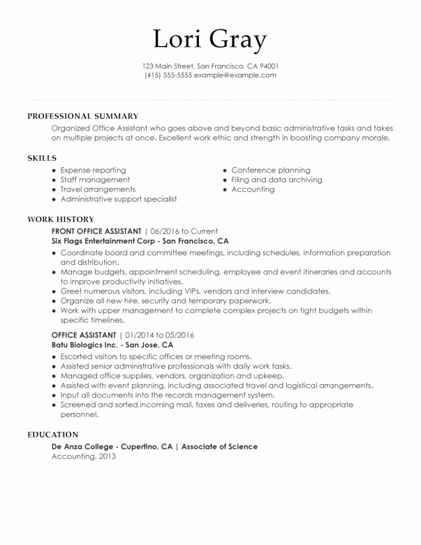 Office assistant Resume Template Elegant Executive assistant Resume Examples Created by Pros