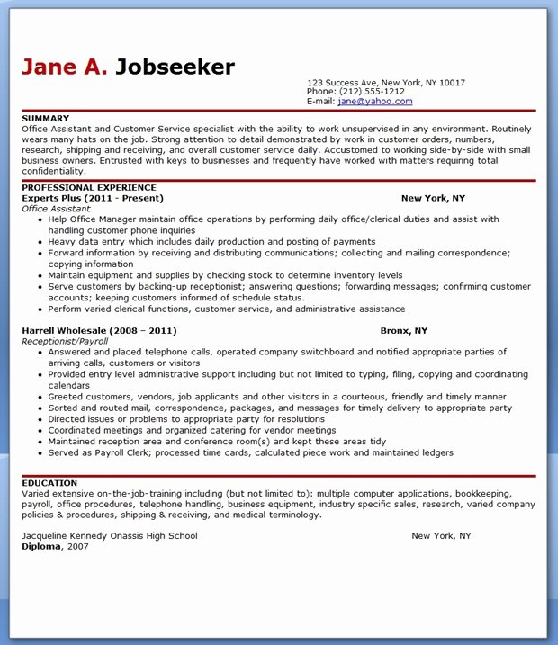 Office assistant Resume Template Inspirational Fice assistant Resume Sample Pdf