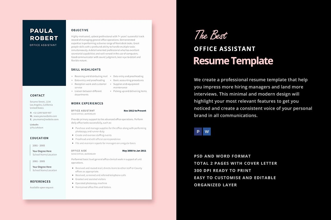 Office assistant Resume Template Lovely Fice assistant Resume Template Resume Templates