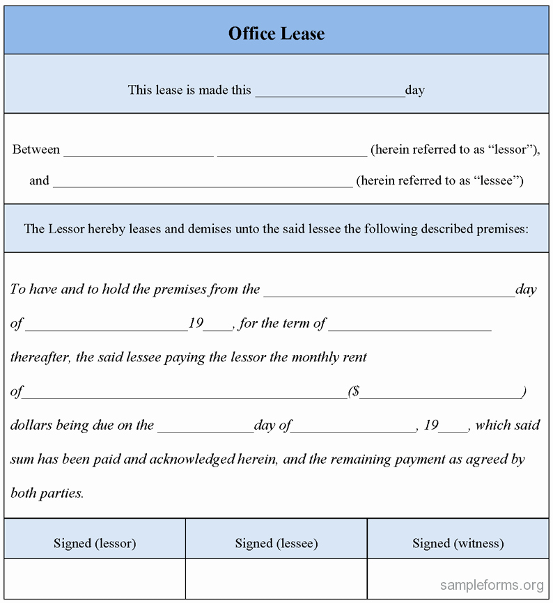 Office Lease Agreement Template Awesome Open Fice Lease Agreement Template Watchdevelopers