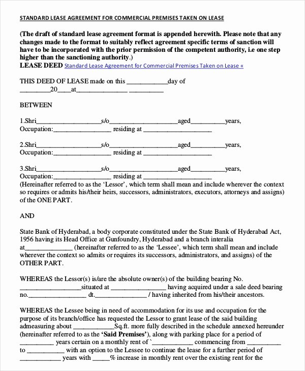 Office Lease Agreement Template Beautiful Mercial Rental Agreement 18 Free Word Pdf Documents