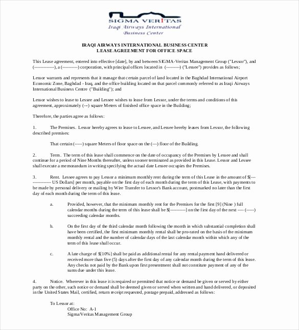Office Lease Agreement Template Elegant 29 Lease Agreement Templates Word Pdf