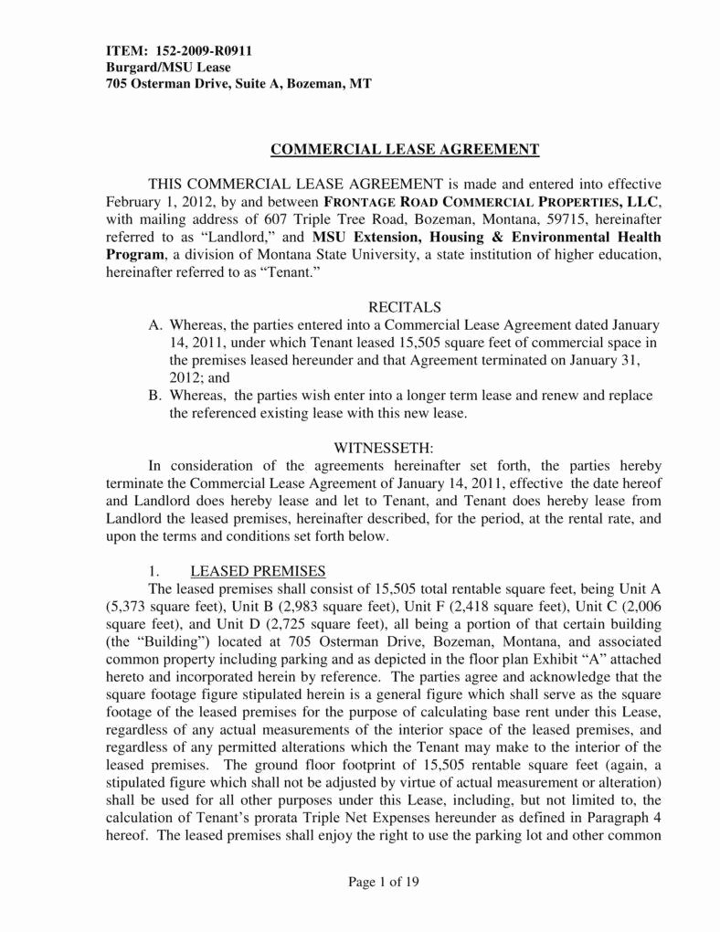 Office Lease Agreement Template Fresh 6 Fice Lease Agreement Templates Pdf Word