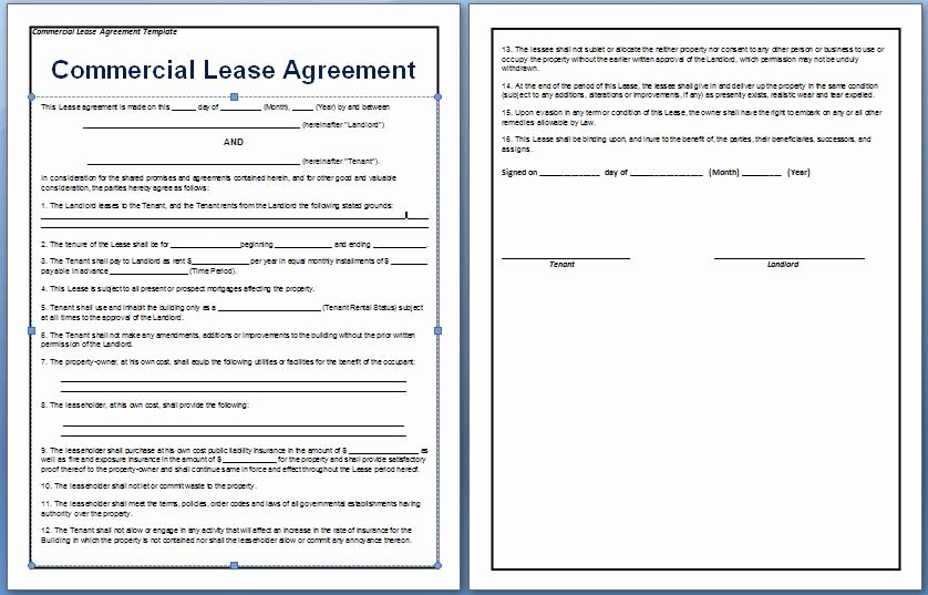 Office Lease Agreement Template Inspirational A Contract Between A Tenant and A Landlord for the Rental