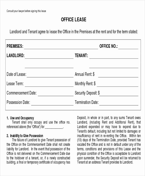 Office Lease Agreement Template Inspirational Business Agreement form