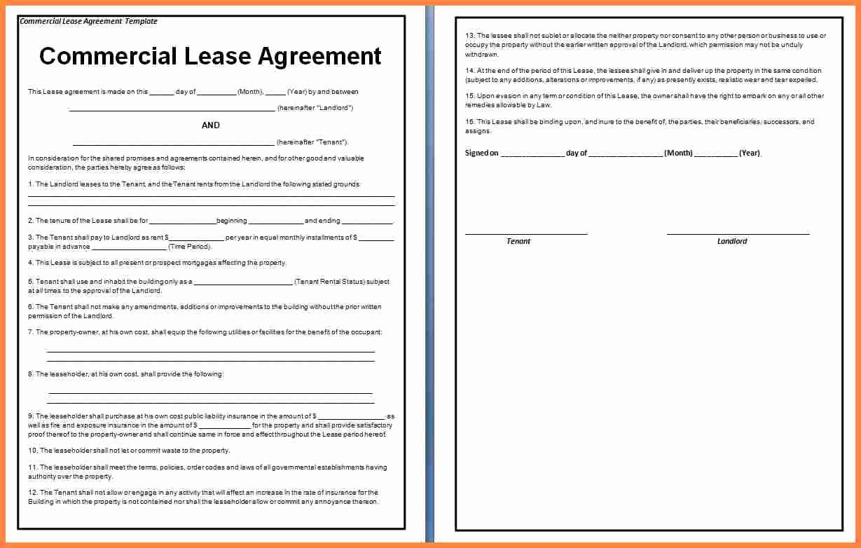 Office Lease Agreement Template Luxury 3 Mercial Office Lease Agreement Template
