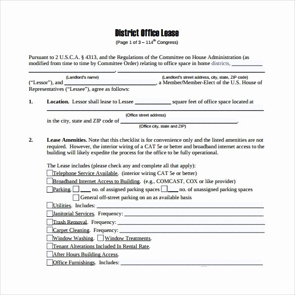 Office Lease Agreement Template Luxury Sample Fice Lease Agreement 9 Free Documents Word Pdf
