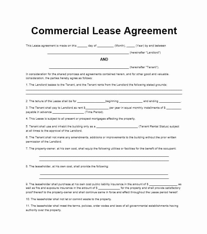 Office Lease Agreement Template New 26 Free Mercial Lease Agreement Templates Template Lab