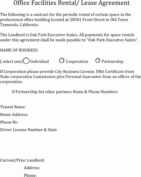 Office Lease Agreement Template New Download Fice Lease Agreement for Free formtemplate