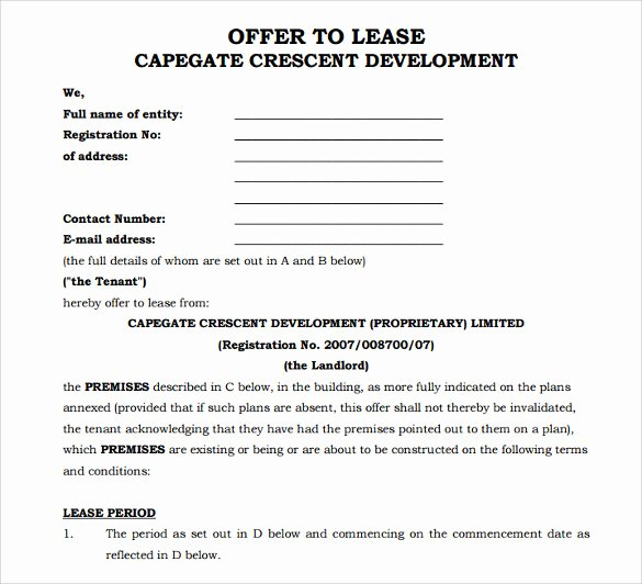 Office Lease Agreement Template New Sample Fice Lease Agreement 7 Documents In Word Pdf