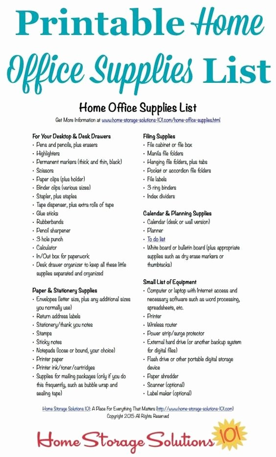Office Supplies List Template Beautiful Back to Back to School Deals and Home On Pinterest