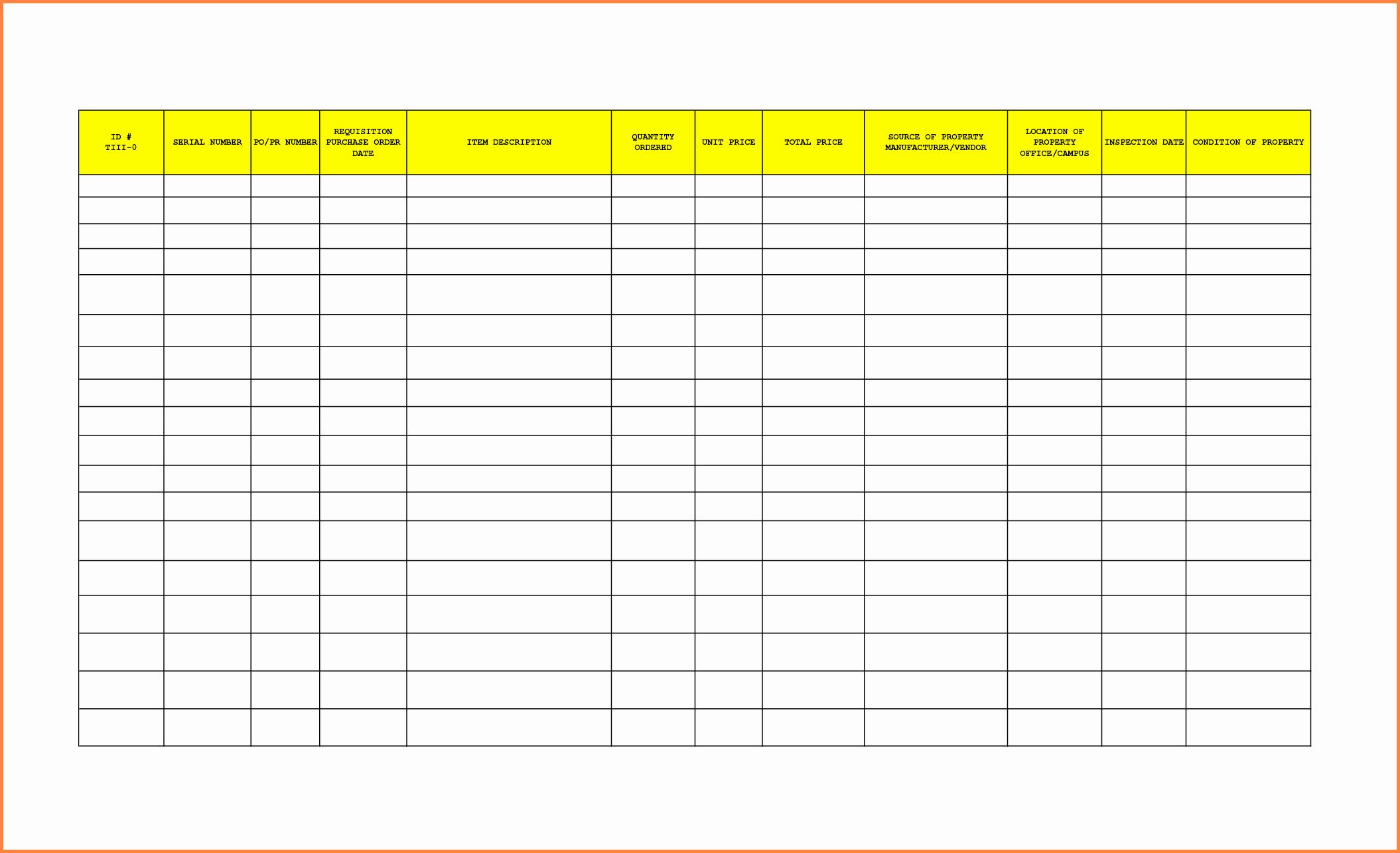 Office Supplies List Template Best Of 8 Office Supplies Inventory Spreadsheet