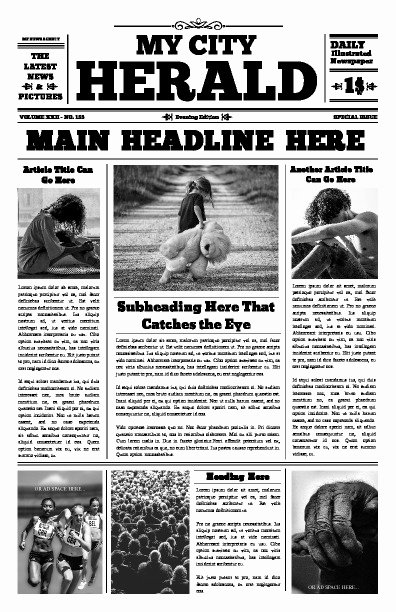 Old Time Newspaper Template Best Of Free Newspaper Templates Print and Digital