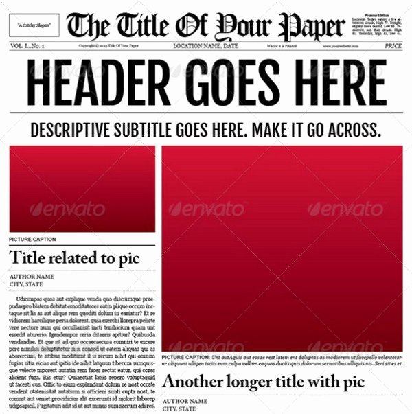 Old Time Newspaper Template Best Of Newspaper Template Free
