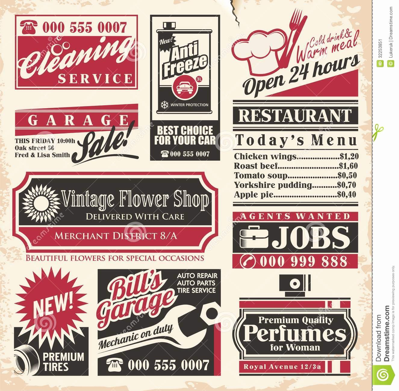 Old Time Newspaper Template Best Of Retro Newspaper Ads Design Template Stock Vector