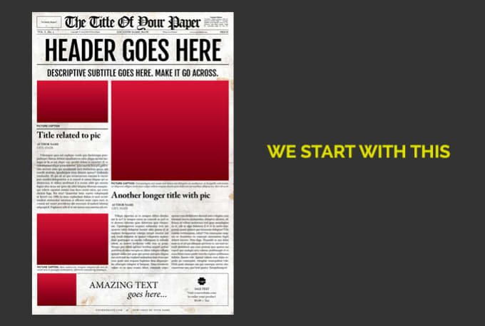 make headlines with my newspaper template