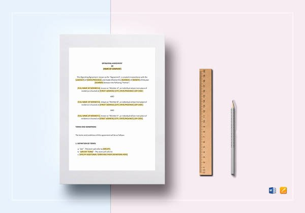 Operating Agreement Template Word Lovely Free 10 Sample Llc Operating Agreement Templates In