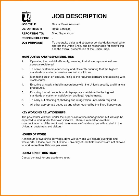 Operations Manager Job Description Template New Sales Job Description Template