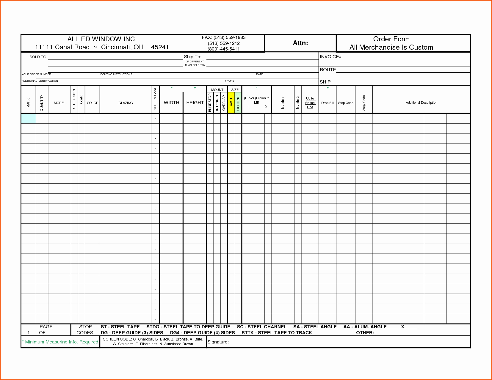 Order form Template Excel Beautiful 7 Excel order form Template Bookletemplate