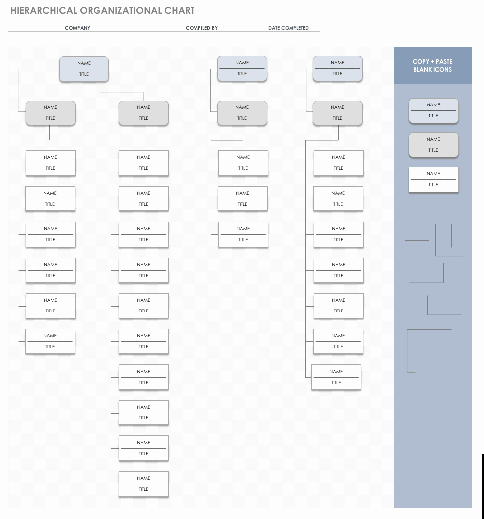 Organization Chart Template Excel Beautiful Free org Chart Templates for Excel