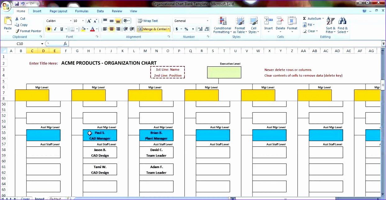 Organization Chart Template Excel New 6 Excel Templates organizational Chart Free Download