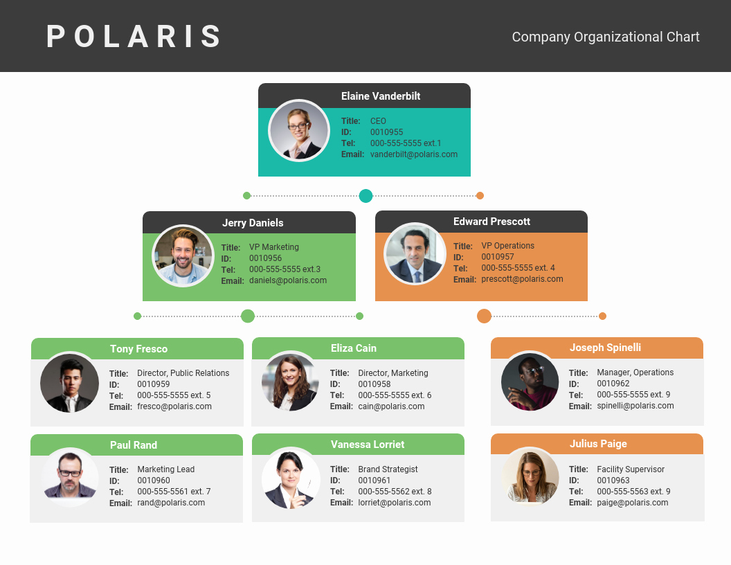 Organizational Chart Template Free Inspirational Pany organizational Flow Chart Template Template Venngage