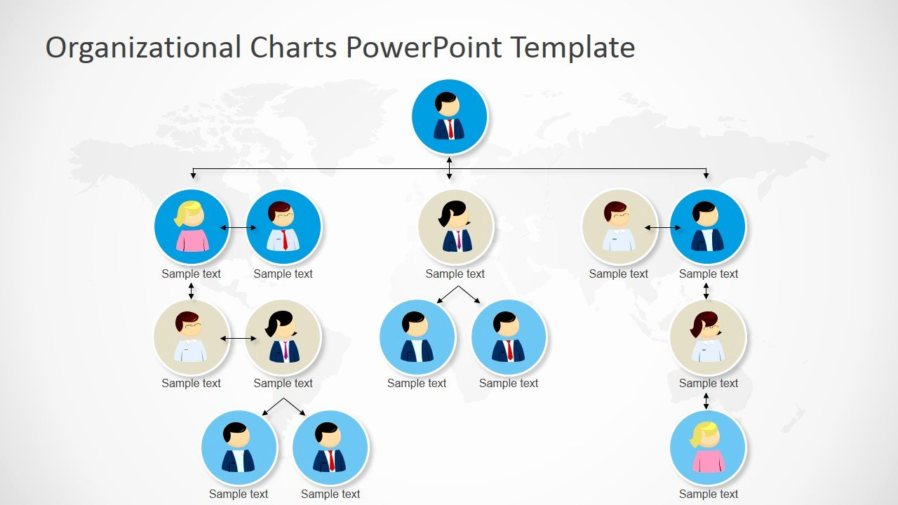 Organizational Chart Template Free Lovely Powerpoint orgchart Tree Structure Four Levels Slidemodel
