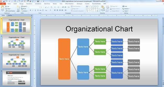 Organizational Chart Template Free Luxury Free org Chart Powerpoint Template for organizational