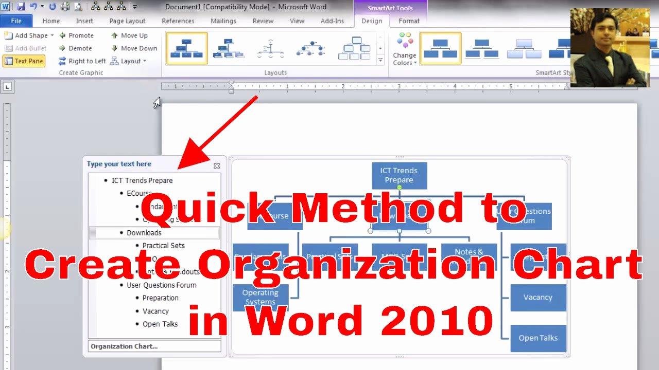 Organizational Chart Template Word Fresh How to Make An organizational Chart Creating
