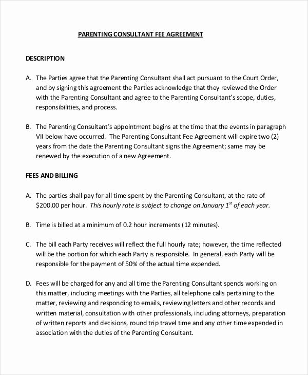 Parenting Agreement Template Free Awesome Parenting Agreement Templates 8 Free Pdf Documents