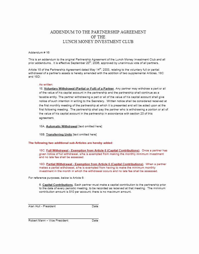 Partnership Agreement Template Free Inspirational 40 Free Partnership Agreement Templates Business General