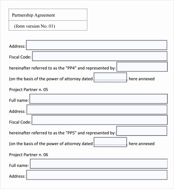 Partnership Agreement Template Free New Sample Partnership Agreement 24 Free Documents Download