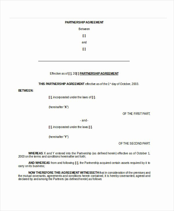Partnership Contract Template Free New General Partnership Agreement 15 Free Pdf Word