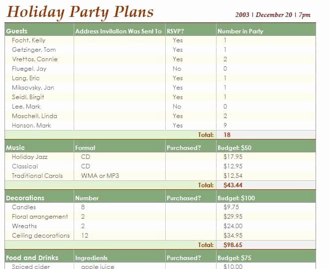 Party Planner Template Free Lovely event Schedule Template Word Excel